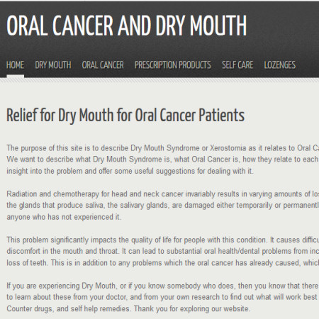 Oral Cancer and Dry Mouth
